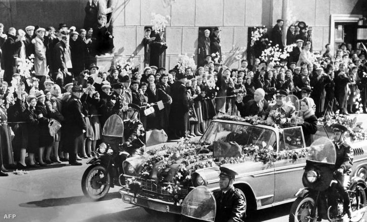 Jurij Gagarin bevonul a szovjet fővárosba 1961. április 14-én