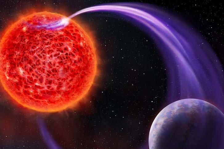 Fantáziarajz a csillag és a bolygó közötti áramról
