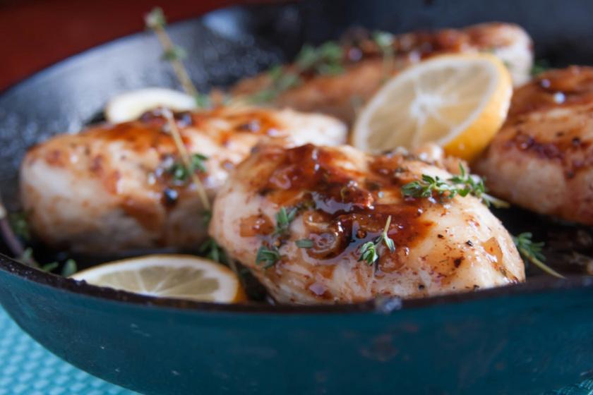 mustáros juharszirupos csirke recept