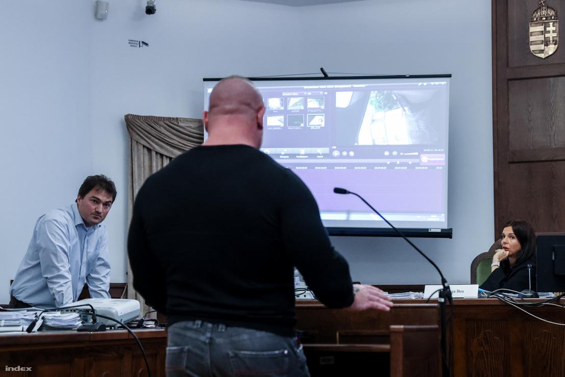 M. Richárd a Pesti Központi Kerületi Bíróságon 2020. február 18-án