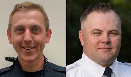 Konner Gabbitas (balra) és Brett Wagstaf rendőr, akik segítettek