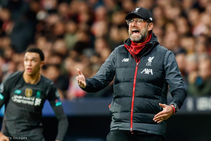 Jürgen Klopp az Atlético Madrid–Liverpool-meccsen
