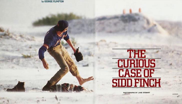 Az 1985-ös cikk borítólapja a Sports Illustratedben – Sidd Finch különös élete