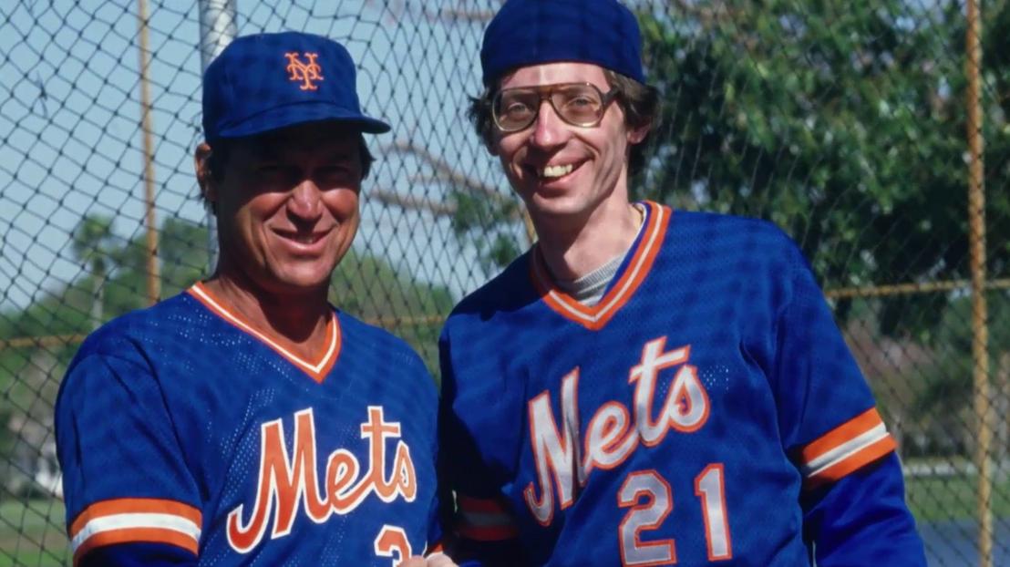 Finch, vagyis Joe Berton (j) a Mets edzőtáborában