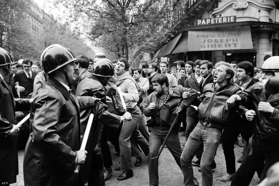 Az 1968-as párizsi diáktüntetés