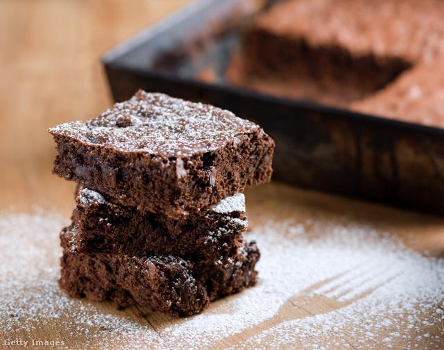 Gluténmentes brownie alig fél óra alatt.