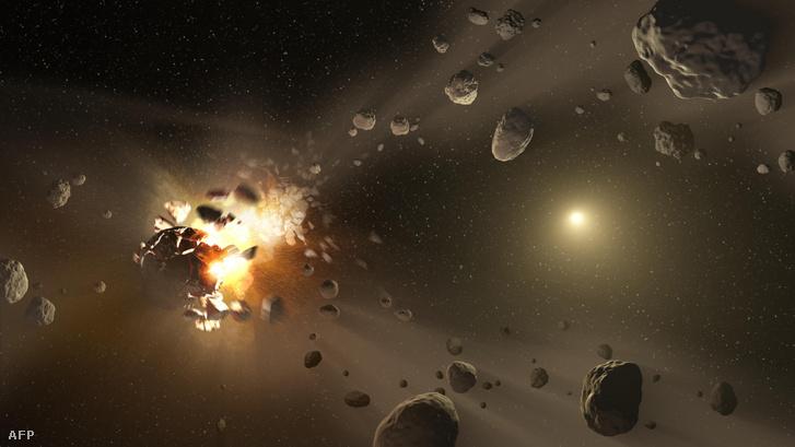 NASA művészeti képe az aszteroidák keletkezéséről