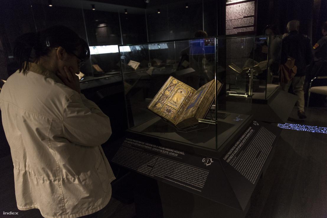 Flavius Philostratus: Történetek a trójai háború hőseiről – az OSZK egyik kódexe a Corvina könyvtár budai műhelye című kiállításon az Országos Széchényi Könyvtárban, 2018 novemberében
