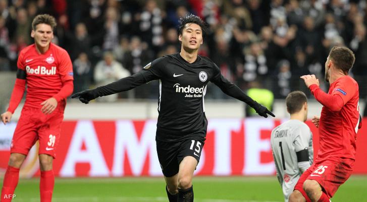 Kamada (Eintracht Frankfurt) három gólt lőtt a Salzburgnak az Európa Ligában