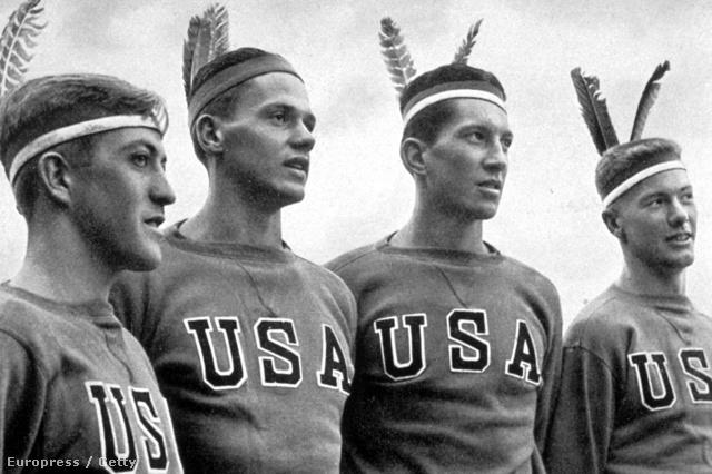 AZ 1936-os berlini olimpián az amerikai versenyzők indiánnak öltöztek
