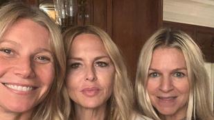 Gwyneth Paltrow smink nélküli csajos estét tartott, szelfik is készültek