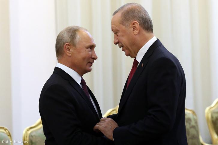 Vlagyimir Putyin és Recep Tayyip Erdoğan