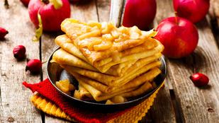 Almás-fahéjas palacsinta: vegán, gluténmentes, és könnyű elkészíteni