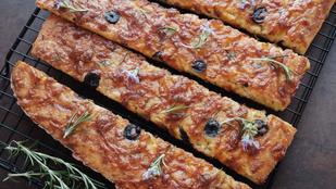 Gluténmentes pizzakenyércsíkok pár perc alatt