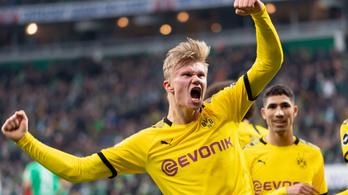 Haaland 30 meccsen 40 gólnál jár; a Hertha 5-0-s verést kapott