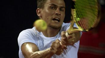 Balázs Attila elődöntőjét elmosta az eső a riói tenisztornán