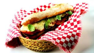 Különleges szendvics vegáknak padlizsánnal, fahéjjal és mozzarellával