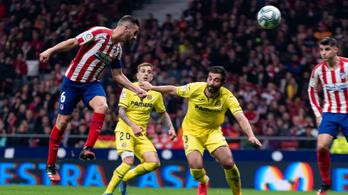 Követhetetlen tempóval jött fejelni az Atlético-játékos