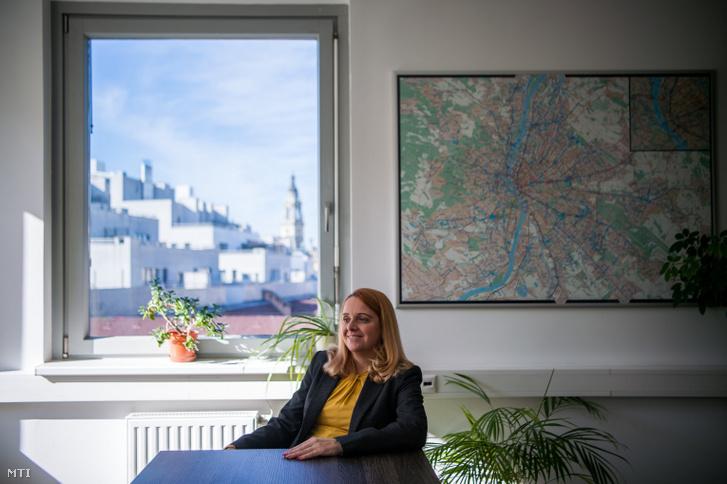 Varga Ivett a Budapesti Közlekedési Központ (BKK) új vezérigazgatója fővárosi irodájában 2020. február 13-án.