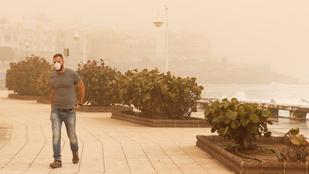 Homokvihar miatt hirdettek vészhelyzetet a Kanári-szigeteken