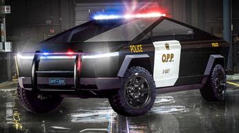 Rendőrautót csinálnának a Cybertruckból