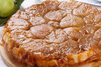 Szaftos és puha fordított almás pite - Alig van benne tészta