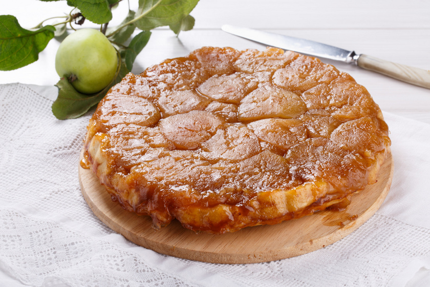 fordított almáspite recept