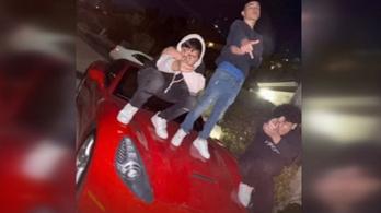 Nagy kárt tettek egy Ferrariban pár Instagram-képért