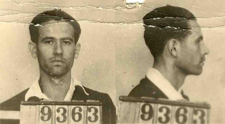 Michnay Gyula rabosítási fotója. A recski tábor teljes titokban működött egészen 1951 őszéig, ekkor a hét társával együtt megszökött, de Nyugatra már csak egyedüliként kijutott Michnay Gyula a Szabad Európa Rádióban felsorolta mintegy 600 recski rabtársa nevét.