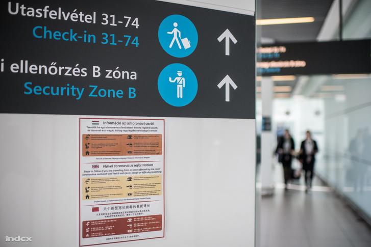 Tájékoztató a koronavírusról a Liszt Ferenc repülőtéren
