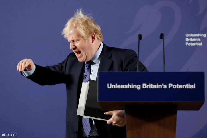 Boris Johnson vázolja kormányának az Európai Unióval folytatott tárgyalási álláspontját a Brexit után 2020. február 3-án