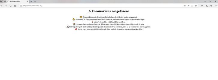 A koronavírus.hu oldalon van némi információ