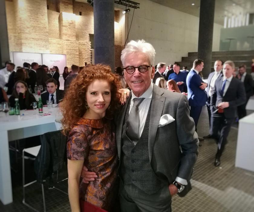Ernyey Béla és felesége a Volkswagen-Dining Guide Év Étterme Díjátadó Gálán.