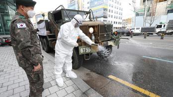 Dél-Koreában már gyorsabban terjed a koronavírus, mint Kínában