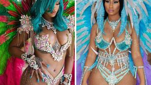 Nicki Minaj Rihanna-módra fesztiválozott, Alessandra Ambrosio dominának ötözött, Candice Swanepoel pedig megint félpucér