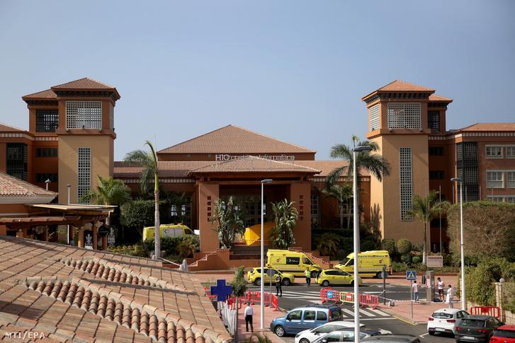 A Tenerife nyugati partjánál lévő Costa Adeje üdülőhely H10 Costa Adeje Palace szálloda 2020. február 26-án.