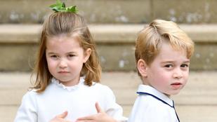 A koronavírus miatt nem megy iskolába György herceg és Sarolta hercegnő