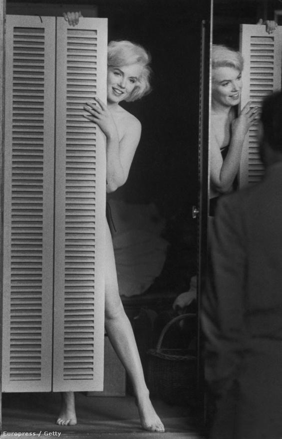 A szőke szexbomba combot villant férjének, Arthur Millernek a Szeressünk! forgatása után.