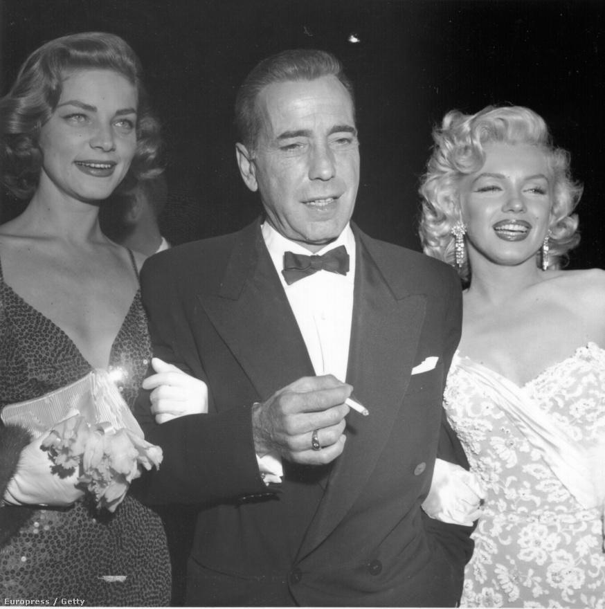 Lauren Bacal, Humphrey Bogart és Marilyn Monroe a Hogyan fogjunk milliomost? 1953. november 4-i díszbemutatóján.