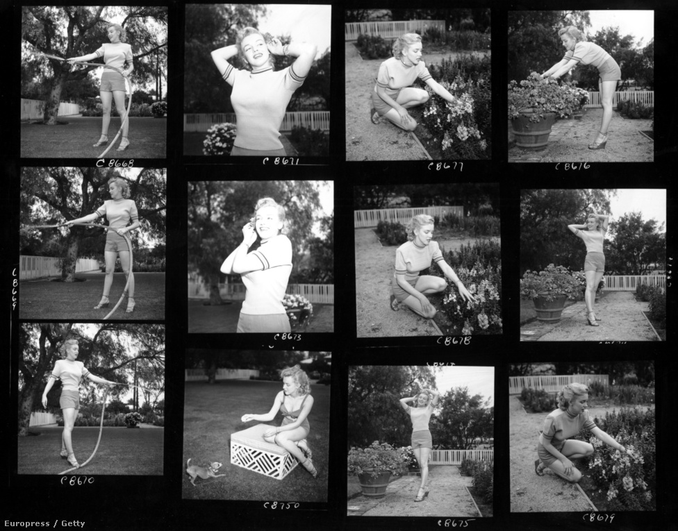 """Hollywood egyig legrámenősebb ügynöke, Johnny Hyde az 1949-es Love Happy című filmjében látta Marilyn Monroe-t, akiből 1950-re tudatos munkával csinált világsztárt. Bár a férfi még a feleségétől is elvált a szexdíva kedvéért, a színésznő később azt nyilatkozta: """"Szerettem, de sosem voltam belé szerelmes"""". A képsorozat Hyde villájában készült."""