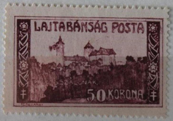 A Lajtabánság által kiadott hivatalos bélyeg