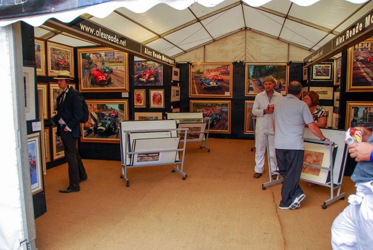 2009-es Goodwood Revival - ezen az őszi versenyen is szép kereslet van a festményekre