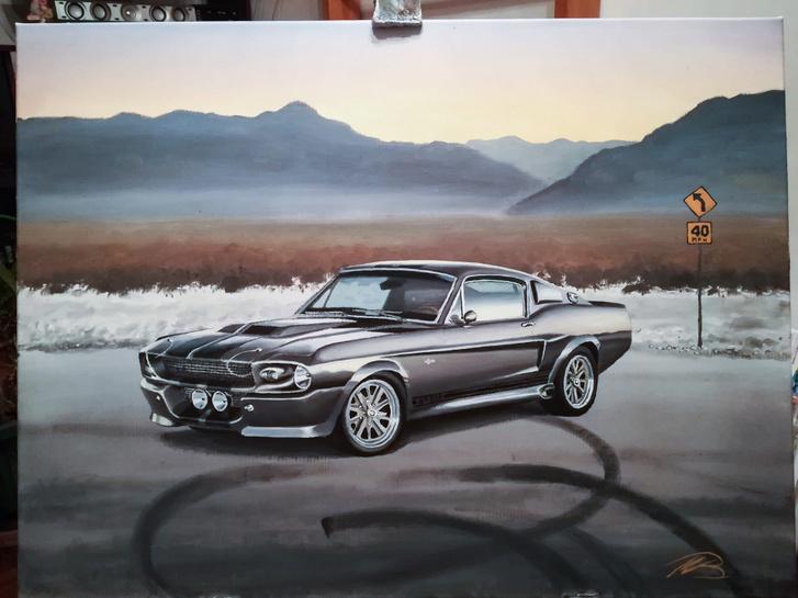 Természetesen Mustangot többször is festett már