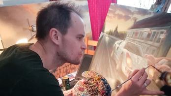 Mártha Balázs és autófestményei