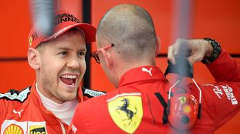 Vettel és a Ferrari volt a leggyorsabb a kicsúszások tesztnapján