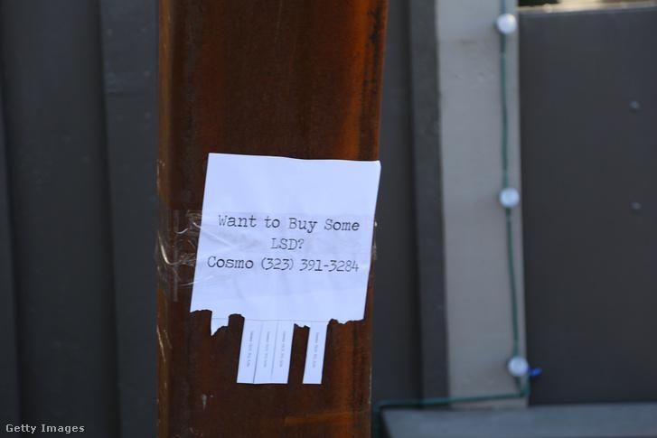 LSD hirdetés az utcán, Park City, Utah