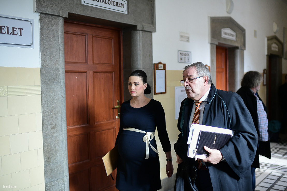 Demeter Márta és védője, Zamecsnik Péter az előkészítő ülés után