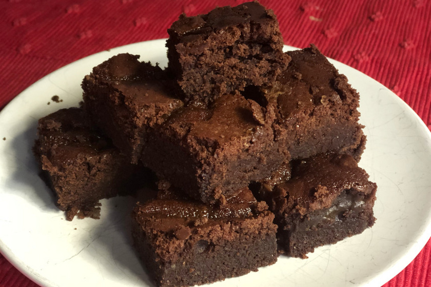 sós karamellás brownie recept