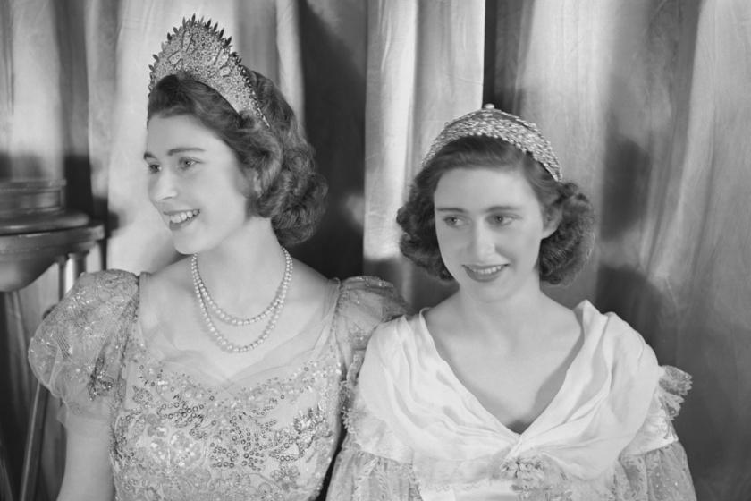 Erzsébet és Margit hercegnő fiatal korukban.