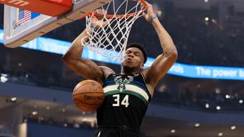 Megállíthatatlan a Milwaukee Bucks az NBA-ben